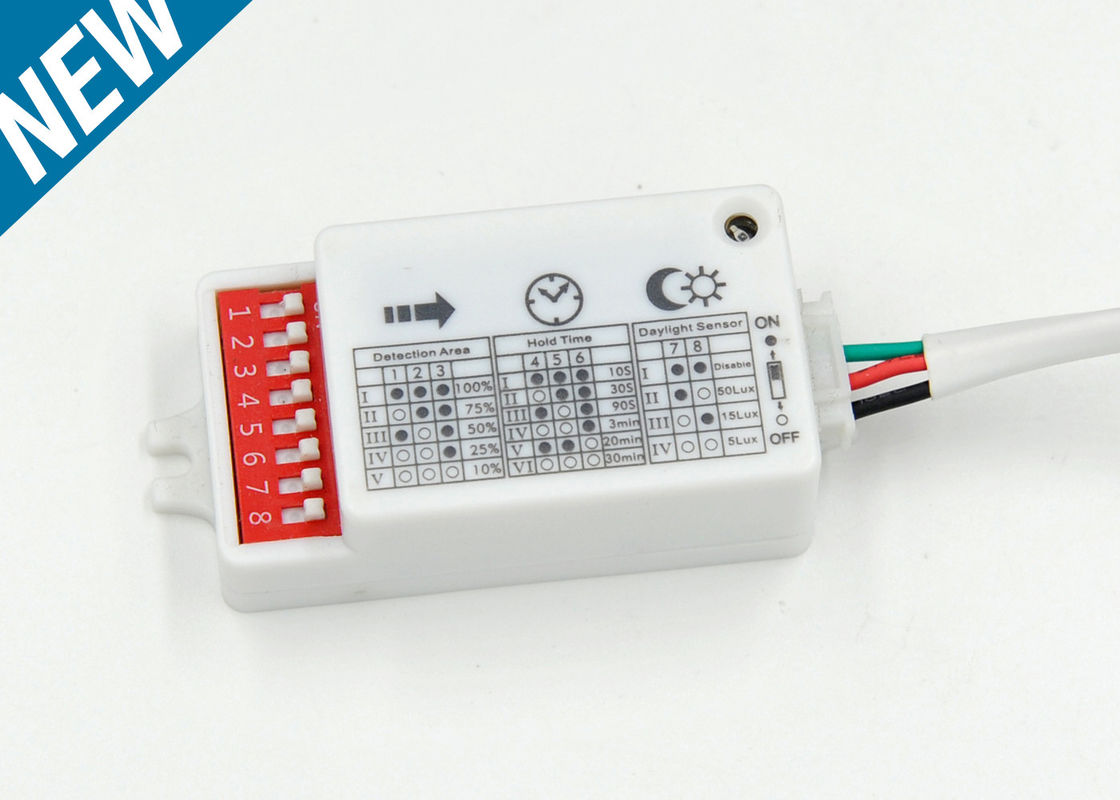 12v DC Microwave Motion senosr With 5vdc Signal Output , Long Range Motion Sensor