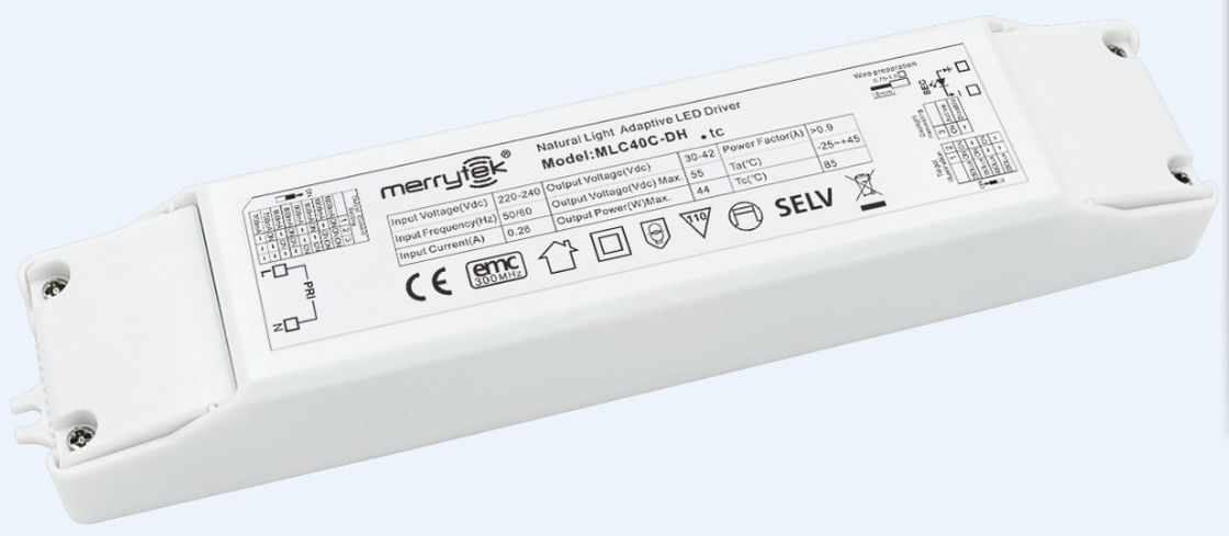 Flicker - Free Dimmable Led Driver MLC40C-DH Daylight Harvesting MS06