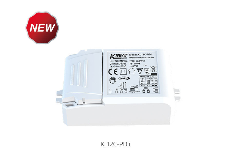 Mini Dimmable LED Driver 12W/20W/35W with Detachable Crimping of C.C. KL12C-PDii / KL20C-PDii / KL35C-PDii